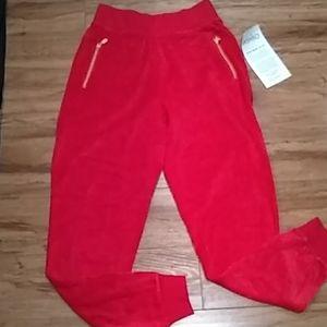 Ashro red velvet sweatpants